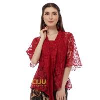 Rahayu Kebaya Top Atasan Kebaya Baju Pesta Kondangan Wisuda - Maroon