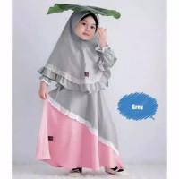 Syahira syari / baju muslim anak perempuan usia 4-5 tahun