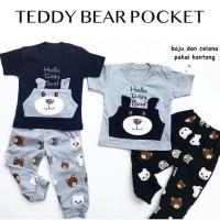 baju setelan kaos celana joger bayi cowok laki murah bestseller -ted - 1 tahun