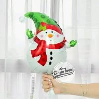 balon foil Snowman mini 2 / balon natal / xmas / balon boneka salju