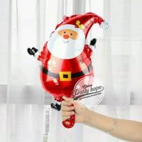 balon foil santa clause mini / balon natal / xmas / balon boneka salju