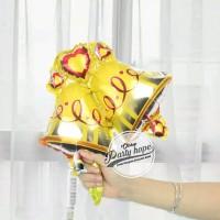 balon foil bell mini / balon natal / xmas / balon lonceng / bell natal
