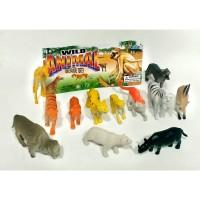 Mainan Action Figure Set Wild Animal Binatang Safari Liar Kecil A588