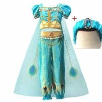 Kostum Jasmine Princess Baju Anak Perempuan Aladdin Ultah Import