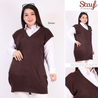 STAYL- Outer Vest Knit Jumbo Baju Hangat XL - 5XL | Rompi Rajut Yuriko