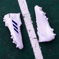 Sepatu Bola Adidas Predator 19.3 FG White/Bold Blue BB9333 Original