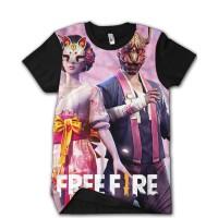 Baju Kaos FREE FIRE Battlegrounds FF 7 Kitsune Ready Anak dan Dewasa