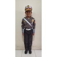 Stelan SeragamNiko Profesi Polisi Police Kostum Baju Anak Jumbo Cilik