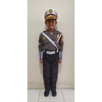 Stelan SeragamNiko Profesi Polisi Police Kostum Baju Anak Cilik