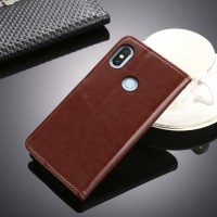 PROMO!!! Xiaomi Redmi Note 5 Pro leather case casing hp kulit FLIP