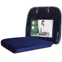 Bantal Alas Duduk Memory Foam / Willow Pillopedic Seat Cush BLUE
