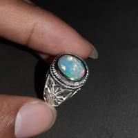 Cincin Batu Permata Natural Opal Kalimaya Jarong Super Like Banten - Kombinasi