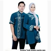AZ 582-08 Baju Tunik Muslim Wanita Busana Atasan Couple AZZURRA