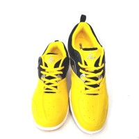Sepatu Badminton BDG-FLEXIMO, Hitam/Kuning - Kuning, 39