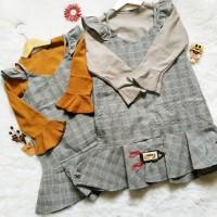 Setelan Overall+Inner Anak Dress Import Anak
