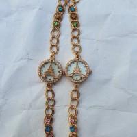 PROMO!!! Jam tangan wanita gelang emas gambar paris HOT SALE