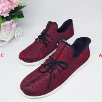 PROMO!!! Sepatu Wanita Kets Sneakers Casual Merah SDS185 - 37 PROMO!!!