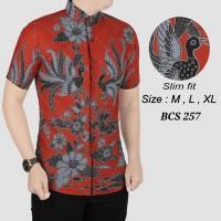 Batik Pria , kemeja slimfit pria,baju batik cowo BCS 257