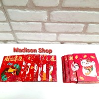 Angpao Maneki Box isi 36 Ampao Premium Kucing Hoki Murah Angpao Anak