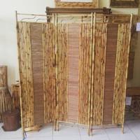 Partisi/Pembatas Ruangan/Sketsel Unik Dari Bambu Cendani 3 Lipat
