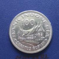 uang lama 100 rupiah 1978 koin kuno Indonesia ASLI rumah gadang wayang