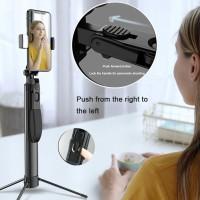 Tongsis Bluetooth A21 Led Tripod Stabilizer Gimbal Selfie stick 80CM