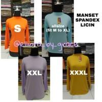 Manset Baju Spandex Licin Dewasa / S, Allsize, XL, XXL