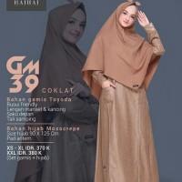 Gamis Premium Set Hijab HaiHai GM 39 Warna Coklat Toyoda Busui Adem
