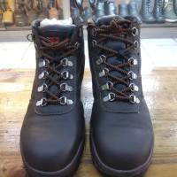 sepatu safety K2 coklat ankle boot 💯% kulit oil resistance