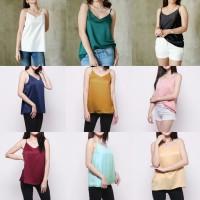 SHIMMER CAMISOLE tank top satin silk atasan inner pakaian wanita murah
