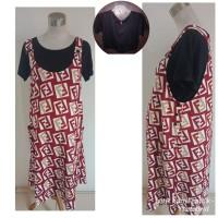 Baju overall Dress Hamil modis kaos etnik