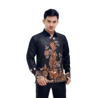 Baju kemeja jumbo batik atasan pria modern motif naga ukuran M-XXL