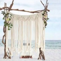 backdrop macrame 1x1.5m / backdrop lamaran / rustic wedding backdrop