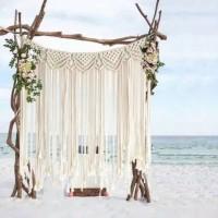 backdrop pernikahan 2x1.5m / backdrop macrame / rustic style