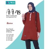 Baju Atasan Alnita AA 48 Abu Tua & Maroon