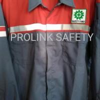 Big Sale Seragam Baju Safety Kombinasi Merah Abu Abu Scotlight Fosfor