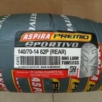 BAN BELAKANG YAMAHA AEROX 155CC ASPIRA PREMIO 140/70 - 14 REAR TUBLESS
