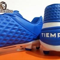 Sepatu Bola - Soccer Nike Tiempo Legend 8 Academy Blue White - FG