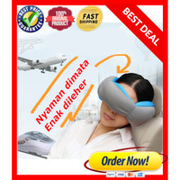 3 in 1 SMART TRAVEL PILLOW / masker, ear bud , bantal anti sakit leher