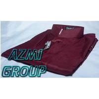 Baju Koko Ammu Dewasa Merah Maroon Marun Original - S