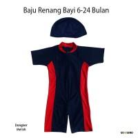 Baju Renang Bayi Unisex dengan Topi 6-24 Bulan - BRB02