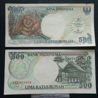 uang kuno rp.500 1992 duit kertas lama Indonesia 500 rupiah ASLI