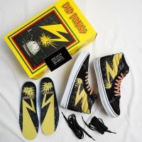 Sepatu BAD BRAINS x Vans SK8 HI High Pro Black White Cyber Yellow BNIB