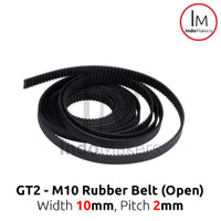GT2 Timing Belt 10mm Rubber Belt Open Type Width 10mm Pitch 2mm