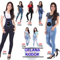 [SIZE 27-34] / Overall / Celana Kodok Wanita / Overall Skinny Jeans / - Hitam, 27
