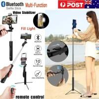 Tongsis Bluetooth A21 Led Tripod Stabilizer Gimbal Selfie stick 1.6m
