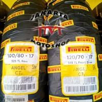 🔴PAKET Ban Pirelli Angel City 100/80 & 120/70 Ring 17 Vixion CB150R