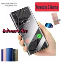 Flip Mirror case Clear View Samsung Galaxy A70 2019 Standing Cover a70