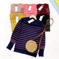chantika sweater / Sweater Rajut Wanita / Baju Wanita / Sweater Cewek - Navy