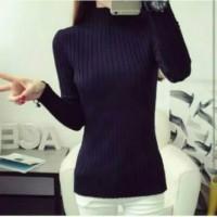Daisy sweater rajut Wanita / Sweater cewek / baju Rajut Wanita - Hitam